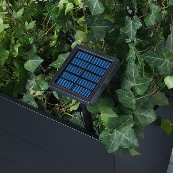SOLVINDEN ซูลวินเดน ไฟประดับ LED 24 ดวง, เฟอร์นิเจอร์สนาม หลอดหลม/หลากสี พลังงานแสงอาทิตย์