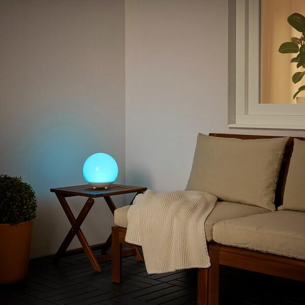 SOLVINDEN ซูลวินเดน หลอดไฟ LED พลังงานแสงอาทิตย์, เฟอร์นิเจอร์สนาม/หลอดหลม ขาว