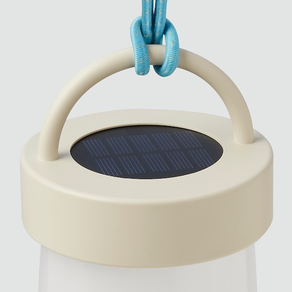 SOLVINDEN ซูลวินเดน โคมไฟตั้งโต๊ะ LED พลังแสงอาทิตย์, เทา/น้ำเงิน