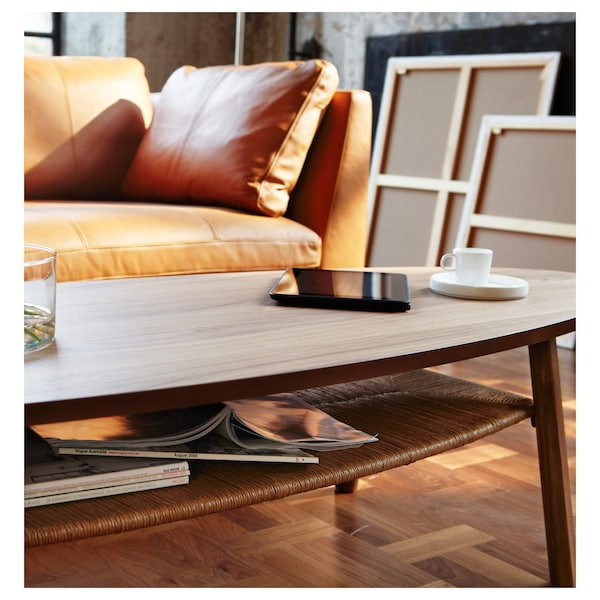 STOCKHOLM สตอคโฮล์ม โต๊ะกลาง, วีเนียร์ไม้วอลนัท, 180x59 ซม.