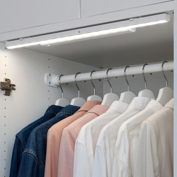 STÖTTA สเติทต้า แถบไฟ LED ส่องตู้ มีเซนเซอร์, ใช้แบตเตอรี ขาว, 32 ซม.
