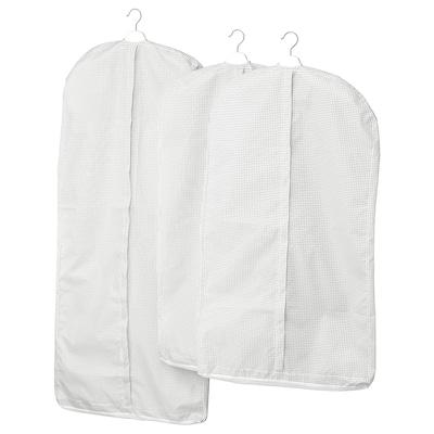 STUK สตูค ถุงใส่สูท/เสื้อผ้า ชุด 3 ชิ้น, สีขาว/เทา