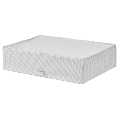 STUK สตูค กล่องใส่เสื้อผ้า, สีขาว/เทา, 71x51x18 ซม.
