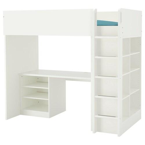 IKEA สตูฟว่า ชุดเตียงสูง พร้อม2/3ชั้นวาง