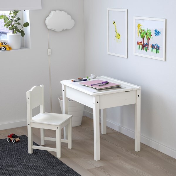 SUNDVIK ซุนด์วีค โต๊ะเด็ก, ขาว, 60x45 ซม.