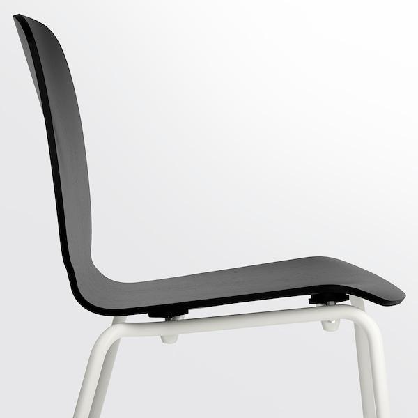 SVENBERTIL สเวนเบร์ททิล เก้าอี้, ดำ/โบรริงเง ขาว