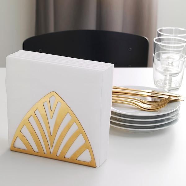 TILLSTÄLLNING ทิลสแตลนิง ที่ใส่ผ้าเช็ดปาก, สีทองเหลือง