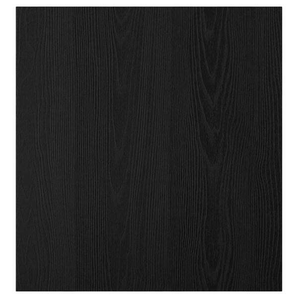 TIMMERVIKEN ทิมเมอร์วีคเกน บานตู้, ดำ, 60x64 ซม.