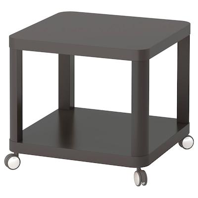 TINGBY ทิงบี โต๊ะข้างมีล้อเลื่อน, เทา, 50x50 ซม.
