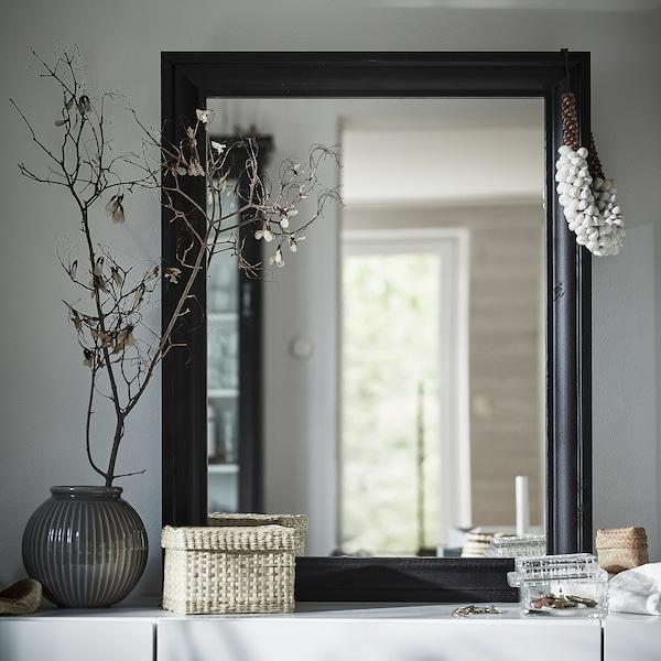 TOFTBYN ทอฟท์บีน กระจกเงา, ดำ, 65x85 ซม.