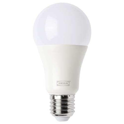 ทรวดฟรี หลอดไฟ LED E27 1000 ลูเมน ไร้สาย หรี่ไฟได้ สีวอร์มไวท์/หลอดหลม แก้วฝ้า 1000 ลูเมน 2700 เคลวิน 2700 เคลวิน 60 มม.