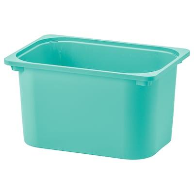 TROFAST ทรูฟัสท์ กล่องเก็บของ, สีเทอร์ควอยซ์, 42x30x23 ซม.