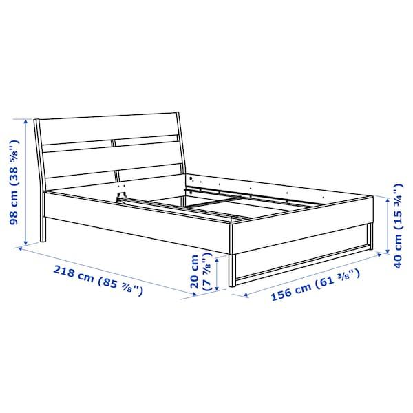 TRYSIL ทรือซีล โครงเตียง, ขาว/เลินเซ็ต, 150x200 ซม.