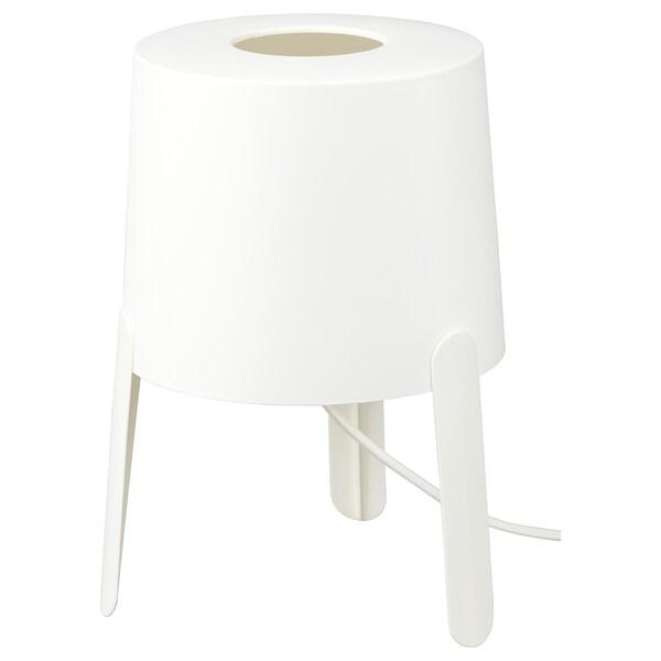 TVÄRS ทวาช โคมไฟตั้งโต๊ะ, ขาว