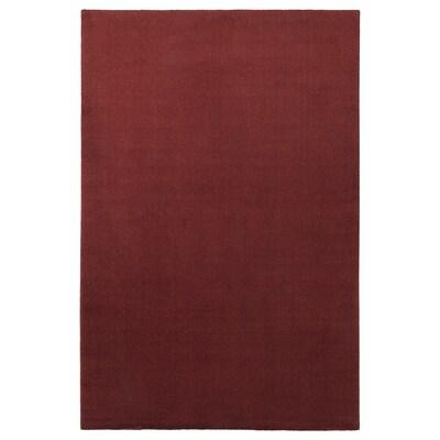 TYVELSE ทือเวลเซ พรมขนสั้น, แดงเข้ม, 200x300 ซม.