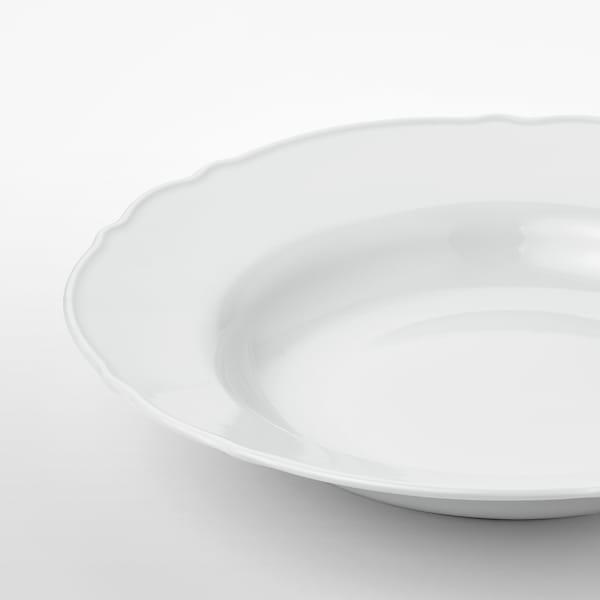 UPPLAGA อุปป์ลากา จานก้นลึก, ขาว, 26 ซม.