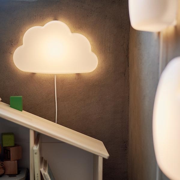UPPLYST อุปป์ลิสต์ โคมไฟผนัง LED, เมฆ ขาว