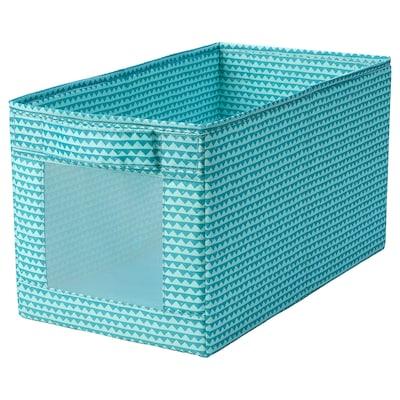 UPPRYMD อุปป์รีมด์ กล่องผ้า, สีเทอร์ควอยซ์, 25x44x25 ซม.