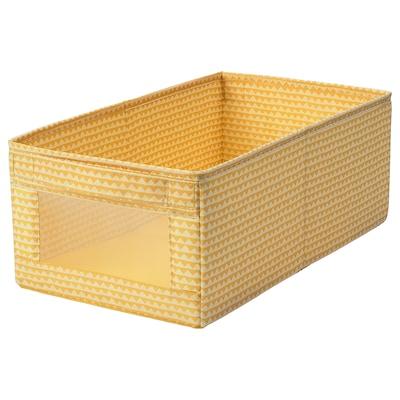 UPPRYMD อุปป์รีมด์ กล่องผ้า, เหลือง, 25x44x17 ซม.
