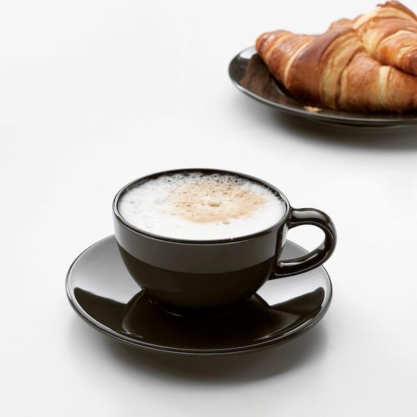 วาร์ดาเกน ถ้วยกาแฟและจานรอง, เทาเข้ม, 14 ซล.