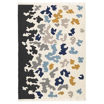 VIDEBÄK วีเดแบค พรมทอเรียบ, ผลิตด้วยมือ/หลากสี, 133x195 ซม.