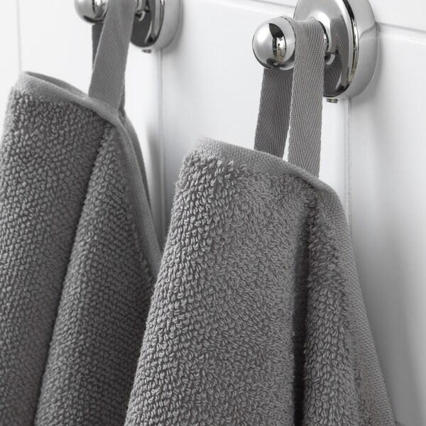VIKFJÄRD วีคฟแยร์ด ผ้าขนหนู, เทา, 30x30 ซม.