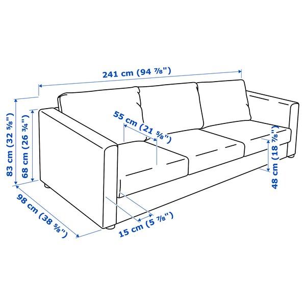 วิมเล โซฟา3ที่นั่ง ดอลสตอร์ป หลากสี 83 ซม. 68 ซม. 241 ซม. 98 ซม. 6 ซม. 15 ซม. 68 ซม. 211 ซม. 55 ซม. 48 ซม.