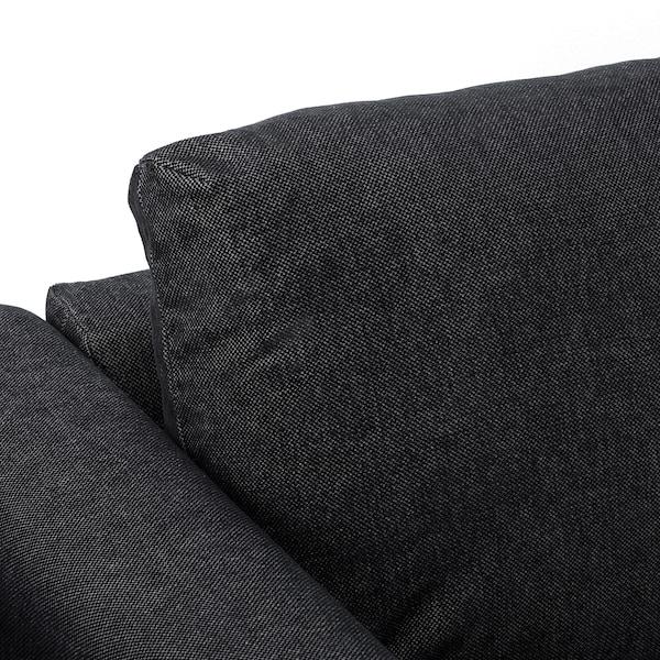 VIMLE วิมเล โซฟา4ที่นั่ง, +เก้าอี้นวมตัวยาว/ทัลล์มือรา สีดำ/เทา
