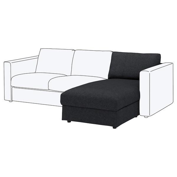 VIMLE วิมเล ผ้าหุ้มเก้าอี้นวมยาว, ทัลล์มือรา สีดำ/เทา