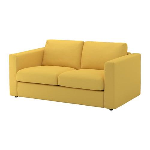Vimle วิมเล โซฟา2ที่นั่ง อุชต้า สีเหลืองทอง Ikea