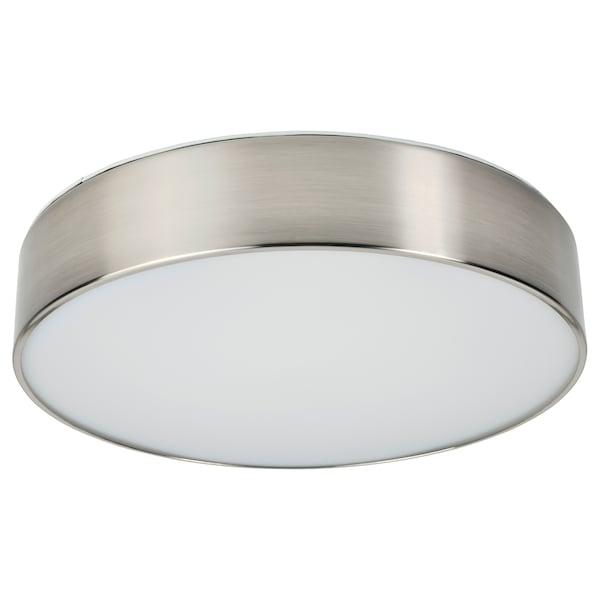 VIRRMO วีร์มู โคมไฟเพดาน LED, ชุบนิกเกิล, 36 ซม. 800 ลูเมน