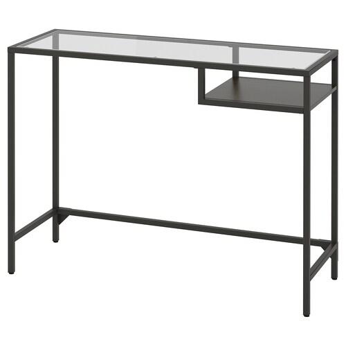 วิทท์เชอ โต๊ะแล็ปท็อป น้ำตาลดำ/แก้ว 100 ซม. 36 ซม. 74 ซม. 25 กก.