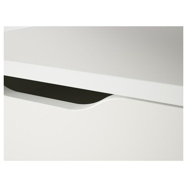 ALEX АЛЕКС Тумба із шухлядами на коліщатках, білий, 67x66 см
