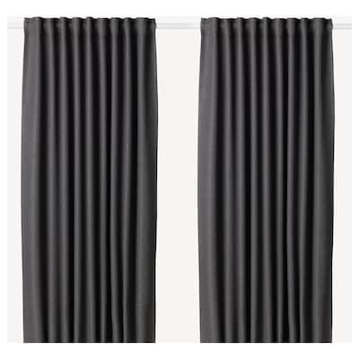 АННАКАЙСА світлонепроникні штори, пара сірий 300 см 145 см 4.09 кг 4.35 м² 2 штук