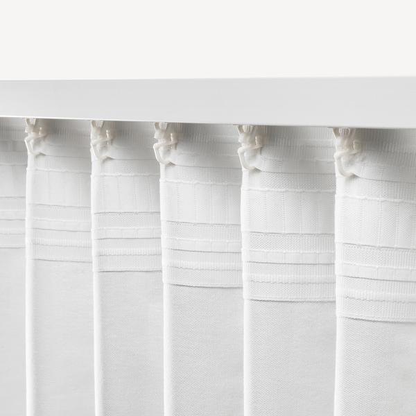 ANNALOUISA АННАЛУЇЗА Штори, 1 пара, білий, 145x300 см