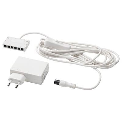 АНСЛЮТА LED адаптер зі шнуром білий 7.2 см 5.0 см 2.5 см 3.5 м 19 Вт