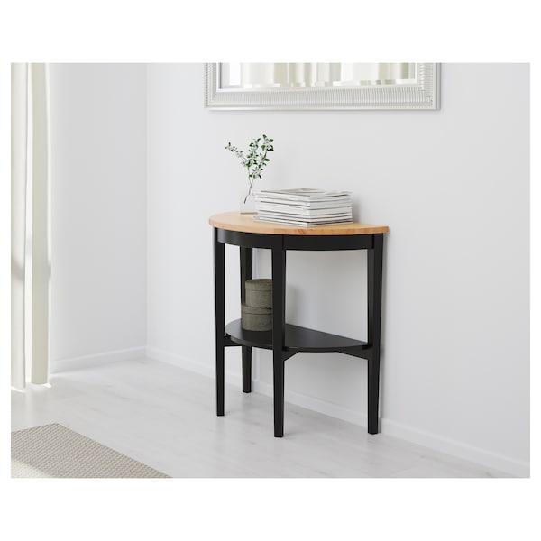 АРКЕЛЬСТОРП Напівкруглий столик, чорний, 80x40x75 см
