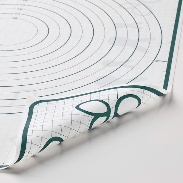 BAKTRADITION БАКТРАДІШУН Килимок для випічки, білий/бірюзовий, 61x46 см