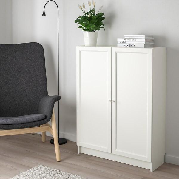BILLY БІЛЛІ / OXBERG ОКСБЕРГ Книжкова шафа з дверцятами, білий, 80x30x106 см