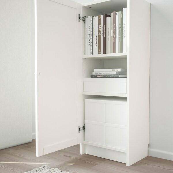 BILLY БІЛЛІ / OXBERG ОКСБЕРГ Книжкова шафа з дверцятами, білий, 40x30x106 см