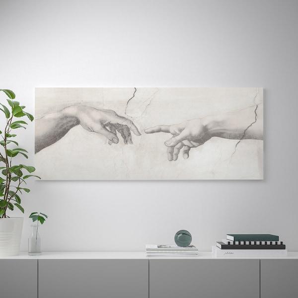 BJÖRKSTA БЬЙОРКСТА Картина з рамкою, Дотик/колір алюмінію, 140x56 см