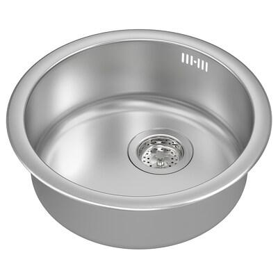 БУХОЛЬМЕН одинарна врізна мийка нержавіюча сталь 15 см 45 см