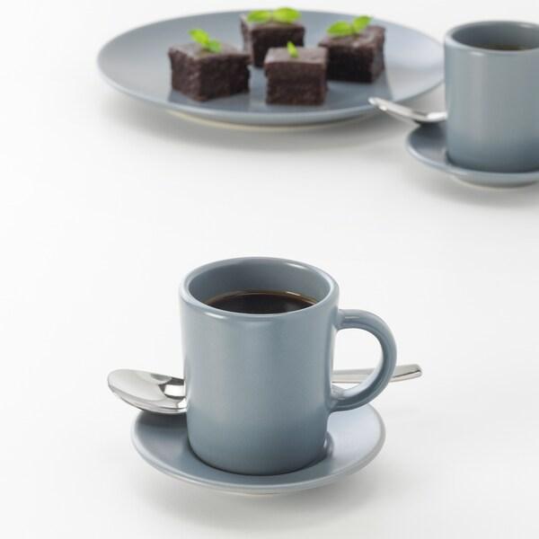 ДРАГОН ложка кавова нержавіюча сталь 11 см 6 штук