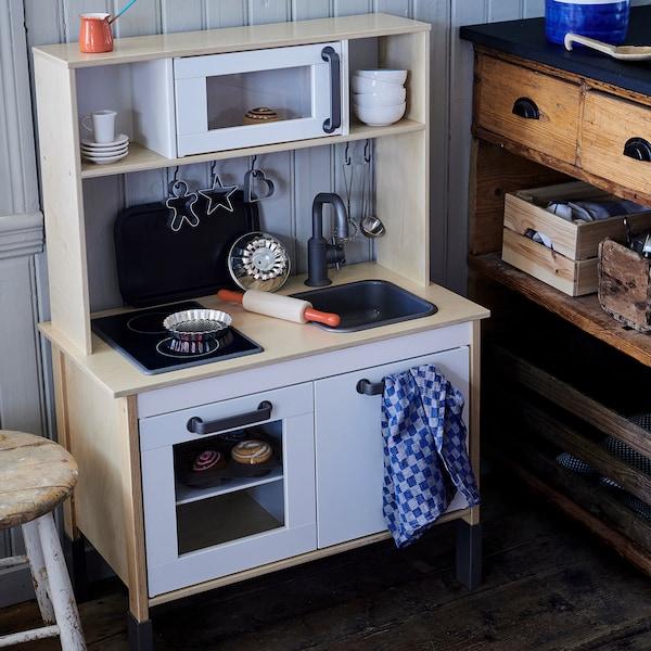 DUKTIG ДУКТІГ Іграшкова кухня, береза, 72x40x109 см