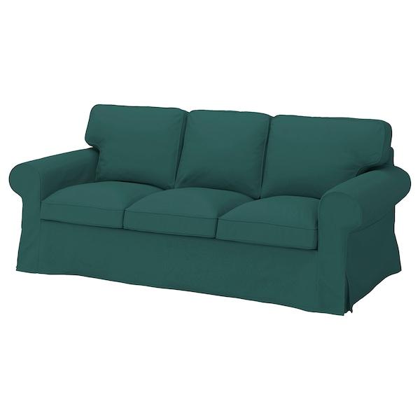 EKTORP ЕКТОРП Чохол для 3-місного дивана, ТОТЕБУ темно-бірюзовий