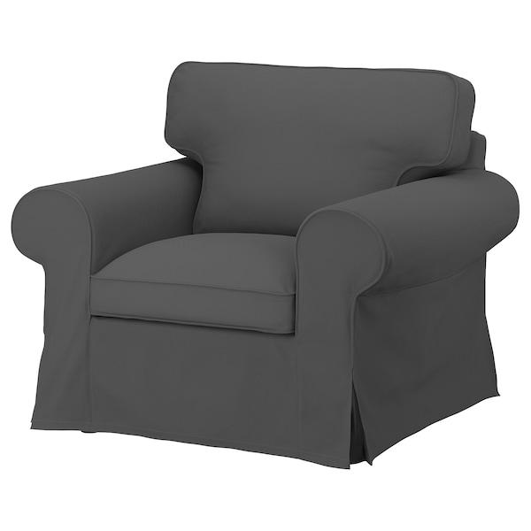 EKTORP ЕКТОРП Чохол для крісла, ХАЛЛАРП сірий