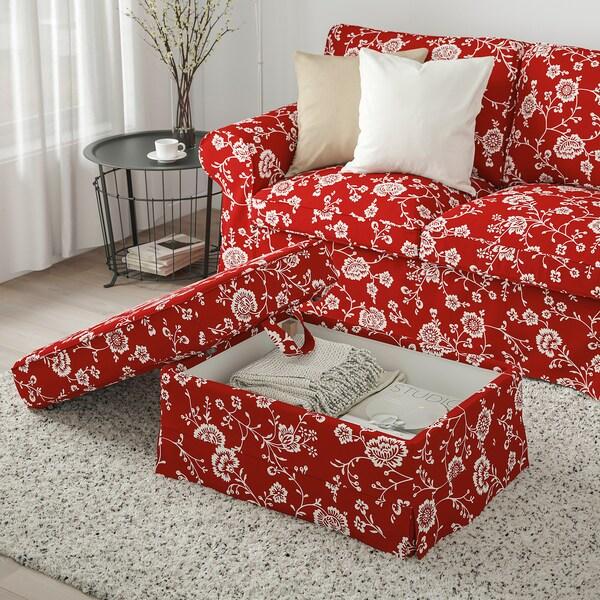 EKTORP ЕКТОРП Підставка для ніг, ВІРЕСТАД червоний/білий