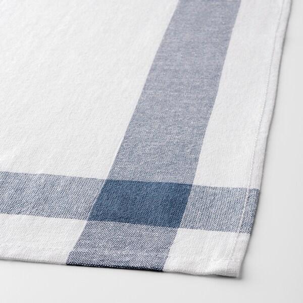 ЕЛЛІ рушник кухонний білий/синій 65 см 50 см 4 штук
