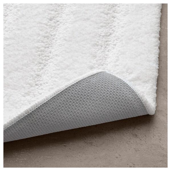 EMTEN ЕМТЕН Килимок для ванної кімнати, білий, 50x80 см