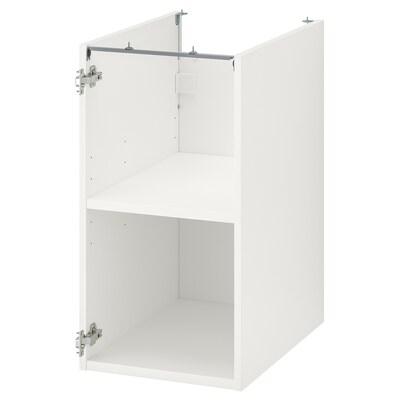 ENHET ЕНХЕТ Підлогова шафа з полицями, білий, 40x60x75 см